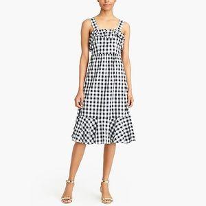 J CREW Midi dress in gingham